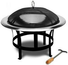 wideShop Palenisko kominek grill ze stali nierdzewnej 75 cm