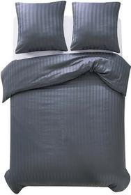 vidaXL Pościel, 3 części, satyna bawełniana, 200x200/80x80 cm, szara