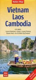 Wietnam Laos Kambodża Mapa 1:1,500 000 - Nelles Verlag