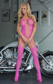 Floweret Neon Pink 6268 bodystocking