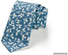 Krawat LEAF niebieskie