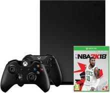 Microsoft Xbox One X 1TB + NBA 2K18 + 2 pady