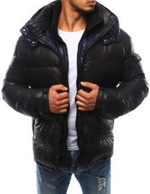 Dstreet Kurtka męska pikowana z kapturem czarna (tx1717) tx1717_l Czarny
