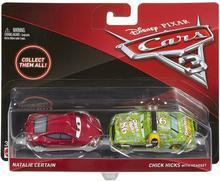 Mattel Auta 3 Cars Marek Marucha ze słuchawkami i Natalie Certain DXW07 DXV99 DXW07
