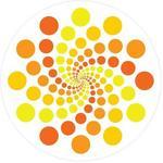 Supertogether Pomarańczowy wirówka Biały Repositionable dekoracyjne naklejki ścienne Dots opakowanie