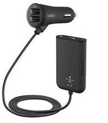 Belkin Ładowarka Road Rockstar 4-Port USB 7,2 A black F8M935bt06-BLK - F8