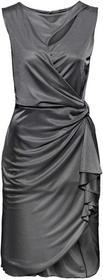 Bonprix Sukienka z wycięciami antracytowy