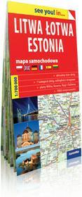 ExpressMap praca zbiorowa see you! in Litwa, Łotwa, Estonia. Papierowa mapa samochodowa 1:700 000