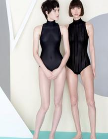 Undress Code Body czarne w paski Be Strong