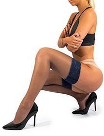 sofsy Lace uda High Sheer rajstopy z nylonu rajstopy głębokości szeroki zakres zastosowań silikon Top 20[wyprodukowane we Włoszech] - B0732VYZ9V