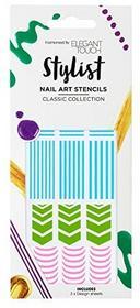 Unbekannt Elegancko Touch Nails sztuka zdobienia paznokci szablon Classiczestaw do pielęgnacji paznokci 4035042