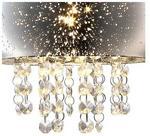 Milagro Kinkiet LAMPA ścienna STARLIGHT 3786 szklana OPRAWA z kryształkami glamour crystal chrom 3786
