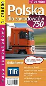 Demart Polska Tir 1:750 000 Mapa Samochodowa Dla Zawodowców - Praca zbiorowa