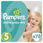 Pampers Active Baby 5 Junior 78 szt.