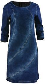 Jeansowa sukienka z finezyjnymi przeszyciami : Rozmiar - 38
