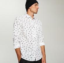 RESERVED Wzorzysta koszula regular fit - Biały