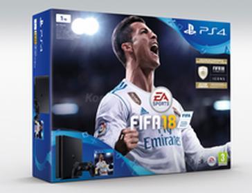 SonyPlayStation 4 slim 1TB Czarny + FIFA 18