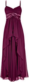Bonprix Długa sukienka jeżynowy