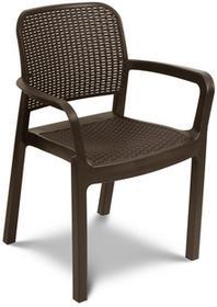 Krzesło ogrodowe SAMANNA brązowe FOCUS