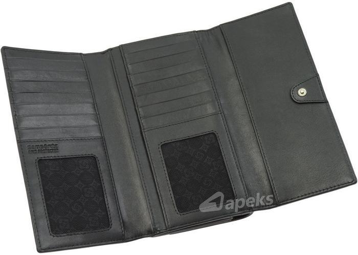 e53e9858cfa85 Samsonite Slim Light 144-232-01 portfel skóra damski - czarny – ceny ...