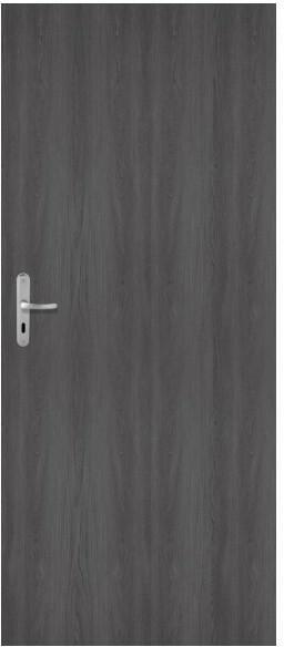 Drzwi zewnętrzne drewniane Dominos 80 prawe grafitowe