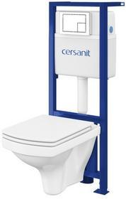 Cersanit Zestaw podtynkowy WC Xeno Easy z miską bezkołnierzową i deską wolnoopadającą