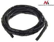 Maclean Osłona maskująca na kable MCTV-687 B 20.4*22mm 3m czarna spirala