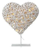 VIDINGE serce dekoracja stojąca biała 1,2W LED Markslojd 703092