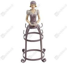 Stojak na kubki Sorrento, fioletowy, z figurką