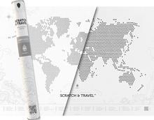 Świat mapa zdrapka - LOFT White PaperApe