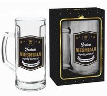 BGtech Kufel do piwa 500ml Gold Jestem nieśmiały zagadaj pierwsza! 332-00/OP-061-008/PL-4932