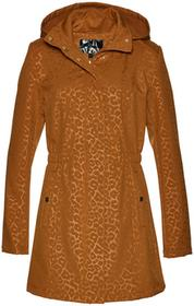 Bonprix Kurtka softshell z nadrukiem w cętki leoparda brązowo-złoty