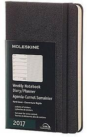 Moleskine Kalendarz 2017 tygodniowy Pocket czarny