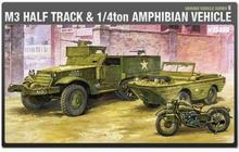 Academy M3 Half Track an d 1/4 Ton Amphibian Vehicle MA-13408