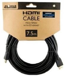 4World Kabel HDMI - HDMI High Speed z Ethernet (v1.4 - 3D, 7.5m (08607