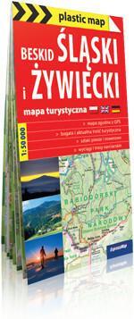 ExpressMap praca zbiorowa plastic! map Beskid Śląski i Żywiecki. Foliowana mapa turystyczna 1:50 000