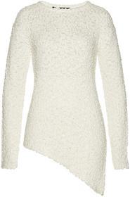 Bonprix Sweter z asymetryczną linią dołu biały