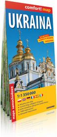 ExpressMap Ukraina 1:1 350 000 - mapa samochodowa - Praca zbiorowa