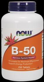 Now Foods Witaminy B-50 B50 - 250 tabletek