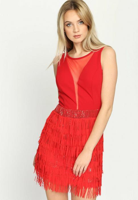3c828cdacc10 Renee Czerwona Sukienka Sensual Lady - Ceny i opinie na Skapiec.pl