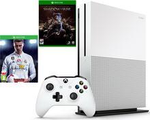 Microsoft Xbox One S 500GB Biały + Śródziemie Cień Wojny + 6M Live Gold + FIFA 18