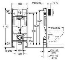 Grohe Rapid SL 3w1 stelaż podtynkowy do WC z przyciskiem spłukującym 38722001 GRO-PO-170