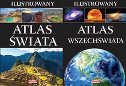 Ilustr. atlas świata + ilustr. atlas wszechświata - Wysyłka od 3,99