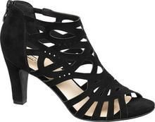 5th Avenue sandały na obcasie czarne