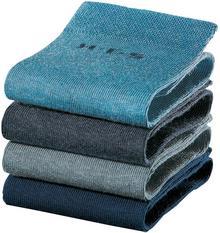 Bonprix Skarpetki damskie H.I.S (4 pary) ciemnoniebieski + niebieski dżins + głęboki niebieski + dymny niebieski