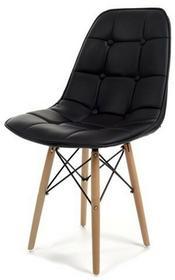 Imaggio Krzesło do jadalni skórzane MIXA - czarne KR440-CZ