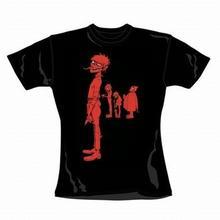 Gorillaz Murdoc Band Red czarna damska