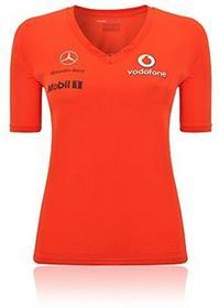 MERCEDES McLaren damski T-Shirt Czerwony F1rozmiar XL V08LRRT1