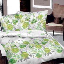 Bielbaw Pościel bawełniana Flower Zielona