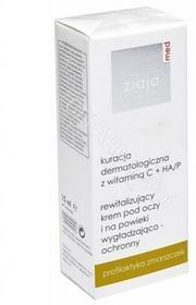 Ziaja med kuracja dermatologiczna z wit.C + HA/P rewitalizujący krem pod oczy i na powieki wygładzająco-ochronny 15 ml